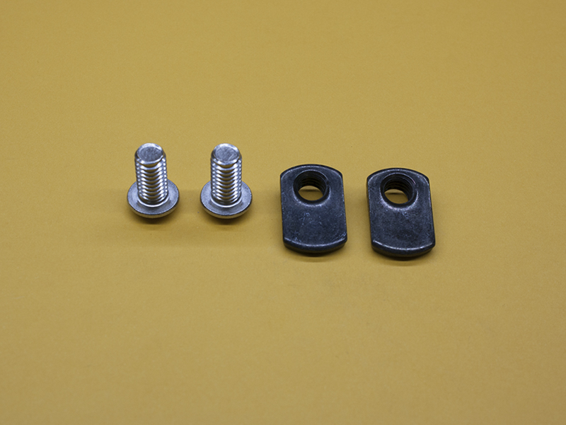 (2) 5/16-18 x 5/8″ STAINLESS Button Head Screws & (2) Economy T-Nuts