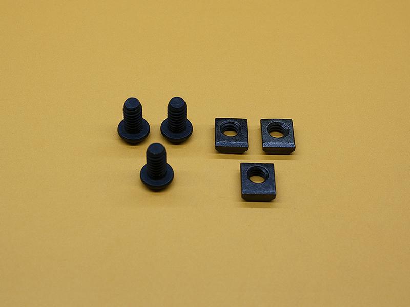 (3) 1/4-20 x 1/2″ Button Head Screws, (3) Standard T-Nuts
