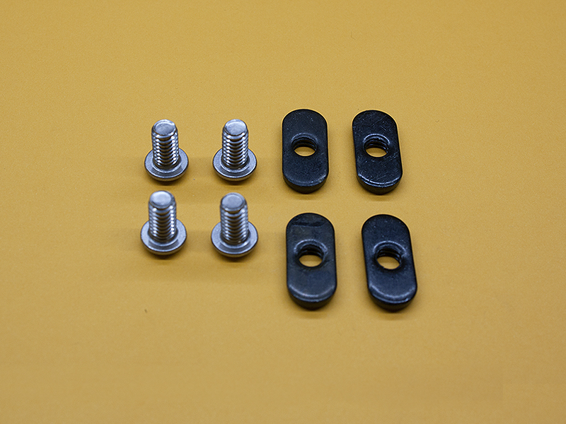 (4) 1/4-20 x 1/2″ STAINLESS Button Head Screws & (4) Economy T-Nuts