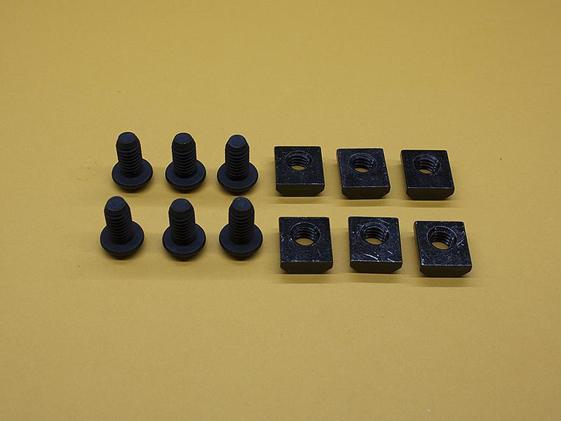 (6) 5/16-18 x 5/8″ Button Head Screws & (6) Standard T-Nuts