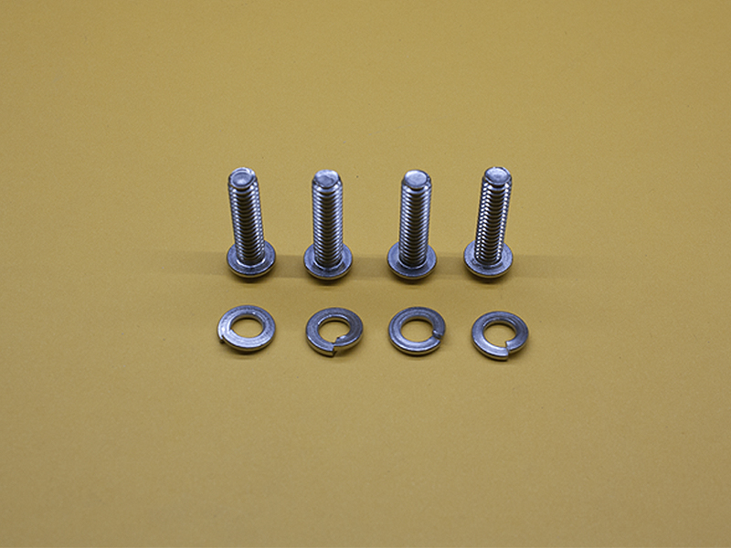 (4) 1/4-20 X 1″ STAINLESS BUTTON HEAD SCREWS & LOCK WASHERS